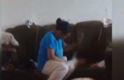 Сәбиін аяусыз ұрған ананың кім екені анықталды (видео)