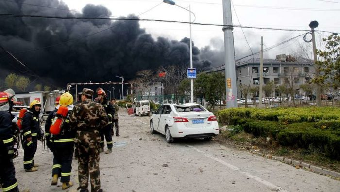 Қытайдағы химзауыттың жарылу салдарынан 44 адам қаза болды