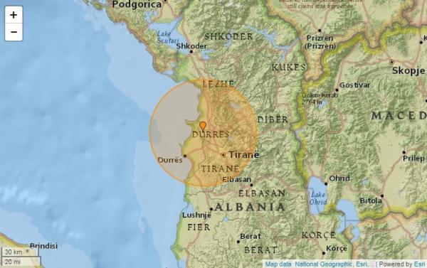 Албанияда тағы жер сілкінісі болды