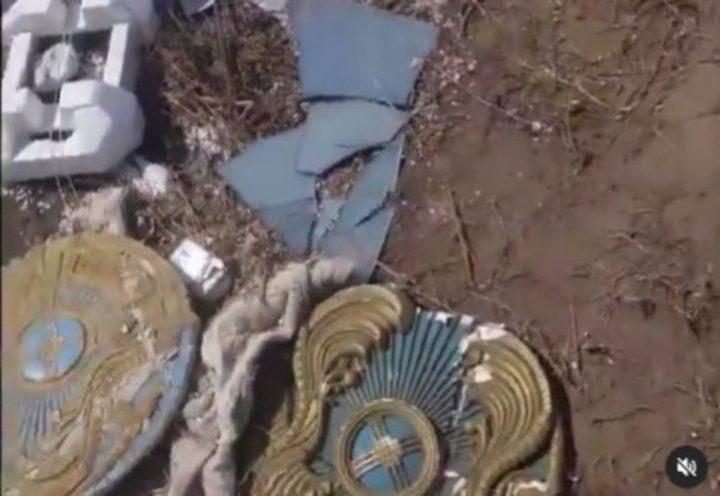 Елтаңбаны қоқысқа тастаған (видео)