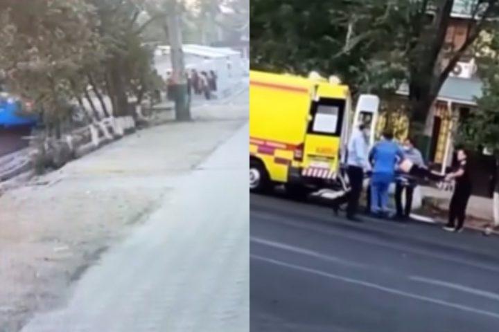 Аялдамада тұрған адамдарды басып кетті (Видео)